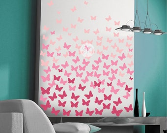 OMBRE BUTTERFLIES wall decals - Interior decor by Graphics Mesh
