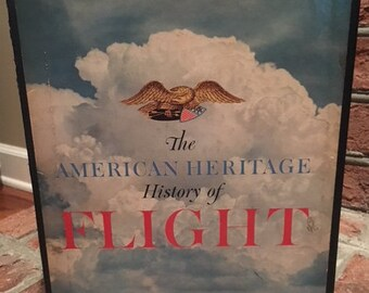 Vintage Book: The American Heritage History of Flight (1962) Hardcover in Original Slipcase-Excellent Condition