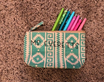 Custom pencil pouch