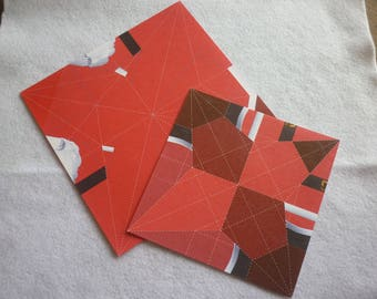 Origami Kit to create a Santa and a prefitted scene background.