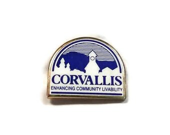 Corvallis Oregon Enamel Pinback Lapel Pin Enhancing Community Livability