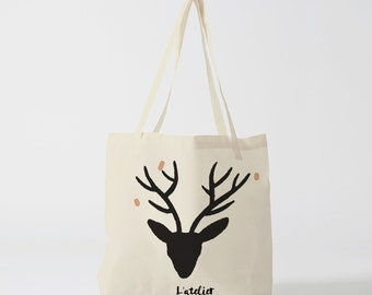 X261Y Tote bag christmas, gift for friend, tote bag cheers, tote bag french, shopping bag, gift for coworker, cotton tote