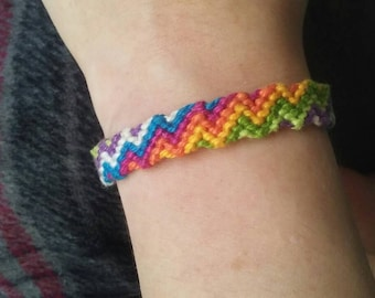 Rainbow lightning friendship bracelet