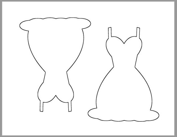 6 inch Dress TemplatePrintable Wedding Dress CutoutsDIY Wedding