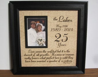 unique 25th anniversary gifts for parents