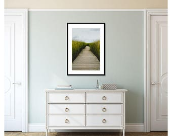 boardwalk photograph, seagrass photo, nature photograph, spa wall decor, cape cod photo, cottage chic art, nautical decor, peaceful wall art