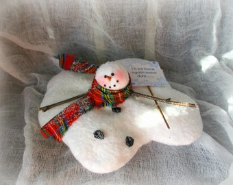 Melting Snowman Tree Ornament | Christmas ornament | Snowman Ornament | Christmas Tree decoration | Snowman decor | Christmas decoration