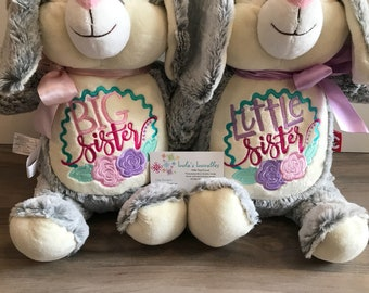 Big sister, little sister stuffies, flowers, choose from any 2 in stock stuffies