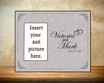 Personalized Wedding Frame - Gray Bride/Groom Frame