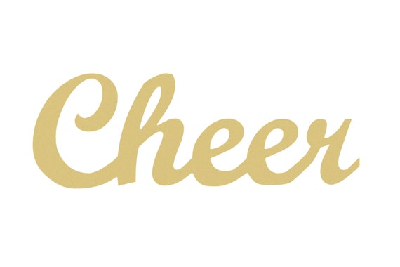 Unfinished Wooden SCRIPT Connected Word CHEER Paintable Wall