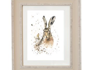 Limited Edition Hazel Hare print