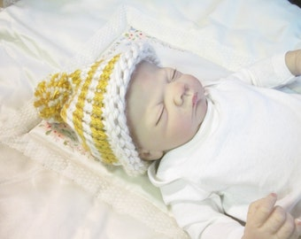 Baby Hat  Newborn to 3 Months Size Ready to Ship