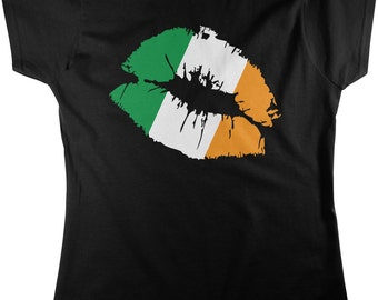 Irish Lips, St. Patrick's Day, Irish Pride, Irish Kiss Women's T-shirt, NOFO_00152