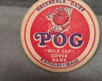 Haleakala Dairy P O G Milk Cap Cover Game Kabului-Maui Milk Bottle Cap