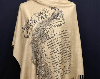 Pride and Prejudice by Jane Austen Shawl Scarf Wrap