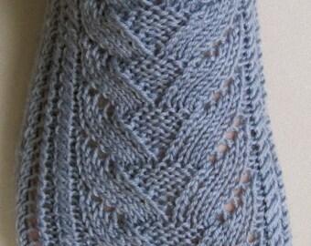Knit Sock Pattern:  My First Cable Lace Socks Knitting Pattern