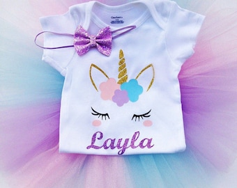 Unicorn first birthdy outfit, second birthday, unicorn tutu outfit, 1st, 2nd birthday
