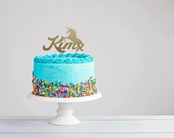 Unicorn Cake Topper- Unicorn Party- Unicorn Party Decor- Unicorn Decor- Personalized Topper-Unicorn Birthday- I Believe in Unicorns