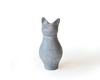 Basst Cat Urn- Russian Grey