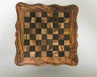 Small Olive Wood Chess Board