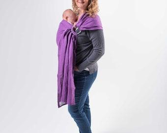 Linen Ring Sling, Baby Sling, Linen Ring Sling, Baby Wrap, Newborn, Toddler, Violet
