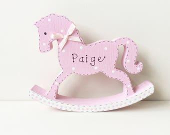 Personalised Rocking Horse - Wooden Rocking Horse, Personalised Nursery, Nursery, Nursery Gift, New Baby Gift, Rocking Horse, Horse.