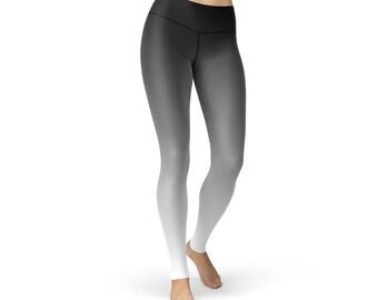 Black White Ombre Leggings