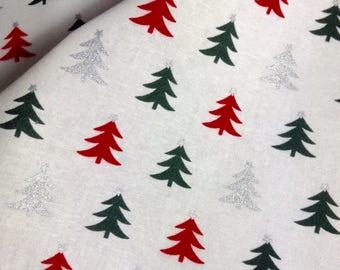 One Half Yard of Fabric - Christmas Trees, Christmas Fabric