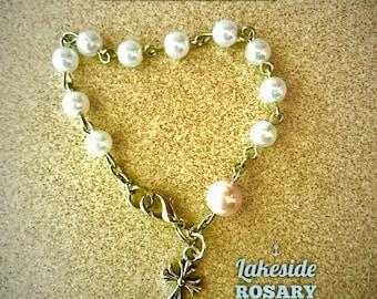 Marian Pearl Bracelet Rosary