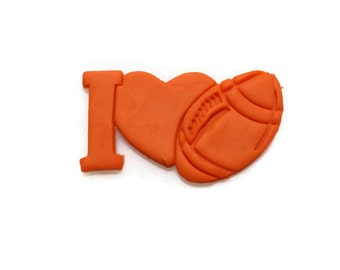 I Love Football 3D Printed Cookie Cutter