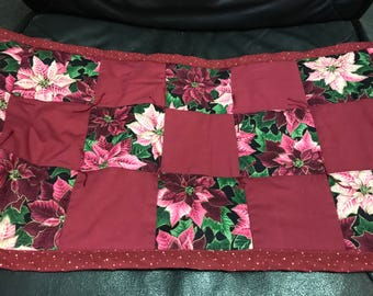 "12 1/2"" X 27"" Table Runner with Poinsettias"