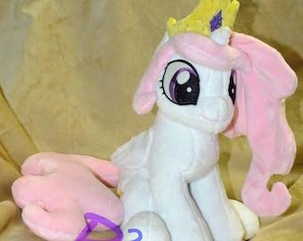 Princess Celestia Sitting Filly Plush -Handmade- Glow in the Dark