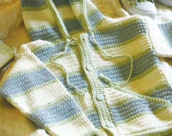 INSTANT DOWNLOAD - PDF -  Pretty Hooded Jacket Crochet Pattern (CB78)