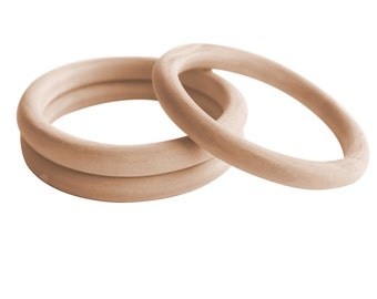 3 pcs Unfinished Blank Wood Bangles-Wood Bracelets- Eco-Friendly Bangles- Jewelry Supply-Eco-Friendly Jewelry