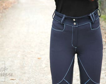 Pantaloni Da Equitazione Modello Main - By FeddaHorse -Riding Breeches - Made In Italy - showjumping - dressage - horsebackriding