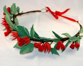 Christmas boho hairwreath accessory head piece wedding hairband gift for girl hairband