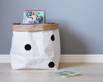 Dot paper bag storage of toys books or teddy bears - Kids interior