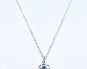 Zircon Crystal Pendant/Sterling Silver Chain