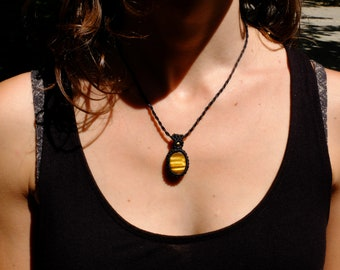 Tiger's eye-necklace/tiger eye necklace