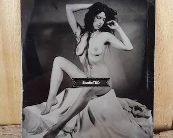 Nude model figure study tintype Kelsey-04