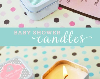 Baby Shower Favor Candles Baby Shower Favors Girl Baby Favors Unique Baby Shower Favor Ideas Personalized Baby Shower (EB2079Z) - 12  pcs