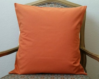 Orange and Beige Pillow Cover