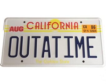 OUTATIME Back To The Future License Plate replica.