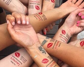 Bachelorette Favor - Bachelorette Party - One Bachelorette Tattoo - Choose Your Quantity - Bachelorette Party Favors