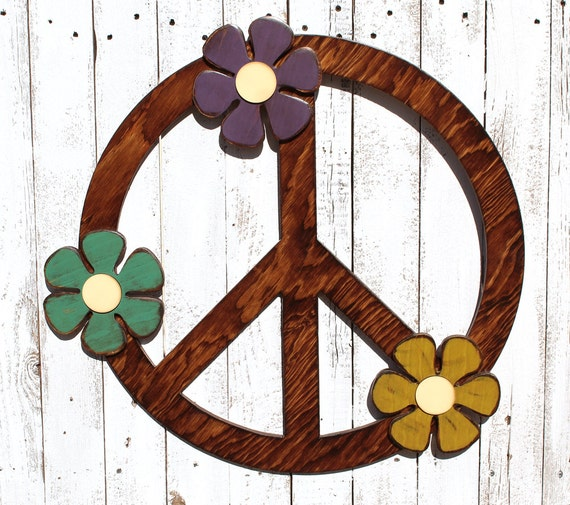 sc 1 st  Etsy & Peace Sign Wall Art Peace Sign Decor Gypsy Wedding Gypsy Boho