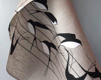 Linen Cotton Kitchen Towels Tea Towels Swallows Birds Nature Tea Towels