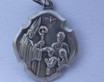 Communion Confirmation Medal - Italian Authentic Religious Catholic Medal Pendant Charm - Ricordo Della Cresima