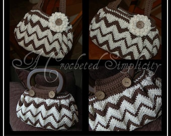 """Crochet Pattern: """"Chasing Chevrons"""" Handbag / Purse, Permission to Sell Finished Items"""