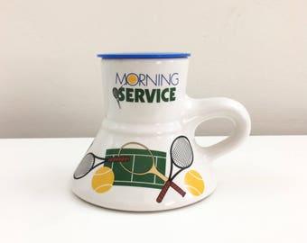 Vintage 1988 Feltman Langer Morning Service Tennis Coffee Mug