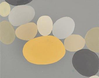 Grey Dots painting